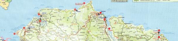 mapa de la costa vasca